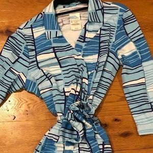 J. McLaughlin Lila wrap dress with collar w/tags